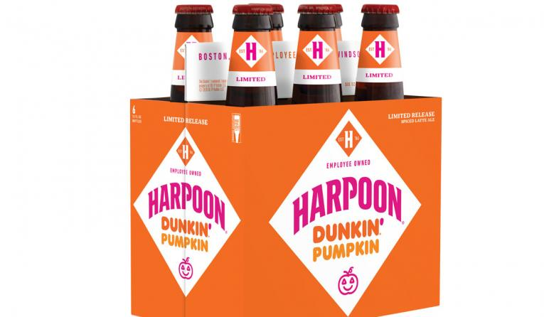 Harpoon Brewery and Dunkin' collaboration.