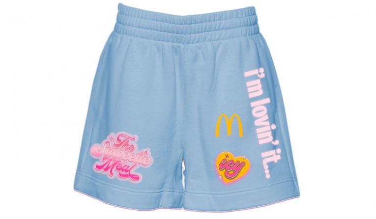 McDonald's Saweetie shorts.
