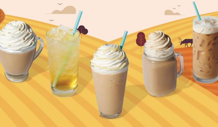 Caribou Coffee fall menu selections.