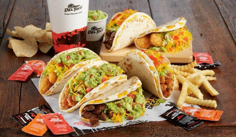 Del Taco Quesadilla tacos
