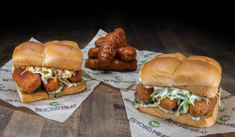 Dog Haus new menu items with Beyond Chicken Tenders