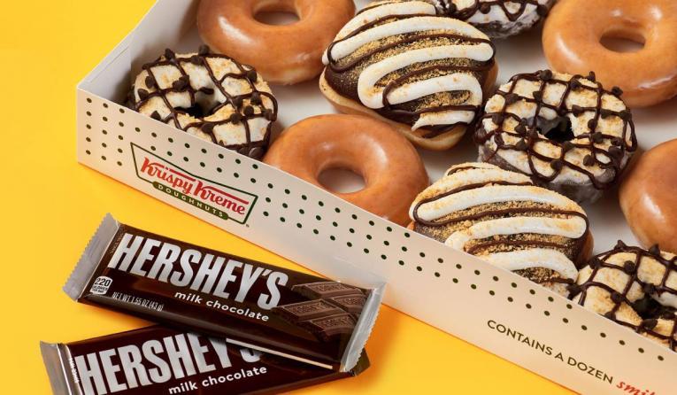 Krispy Kreme S'mores Doughnuts