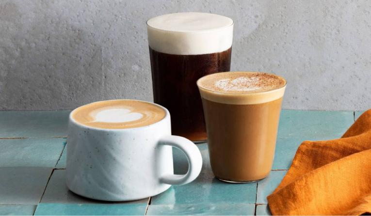 Peet's Coffee fall menu.