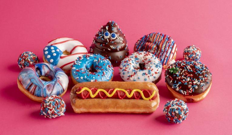 Pinkbox Labor Day doughnuts.