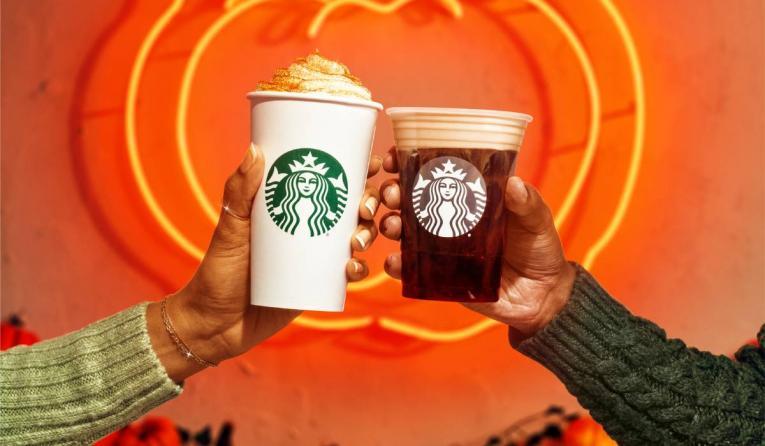 Starbucks fall drinks.