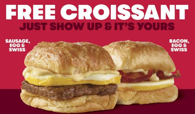Wendy's free croissant promotion