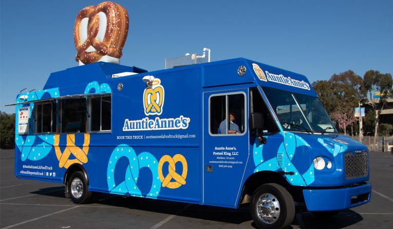 Auntie Anne's food truck.
