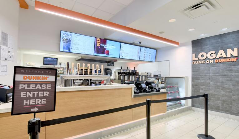 Dunkin' aiport store.