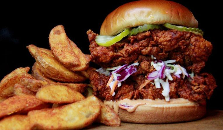 The Red Chickz chicken sandwich.