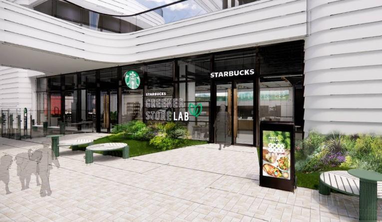 Starbucks Greener Store exterior.