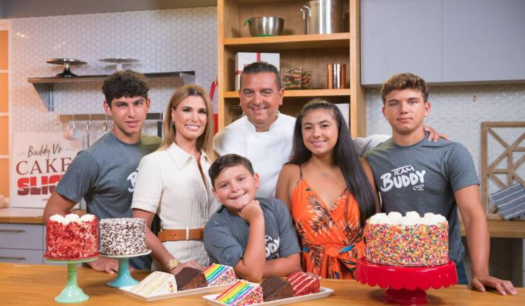 Buddy V's family.