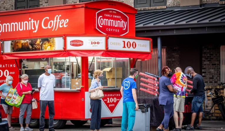 Community Coffee Hurricane relief efforts.