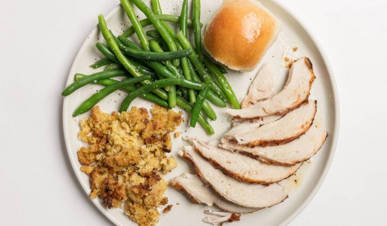Cowboy Chicken turkey plate.