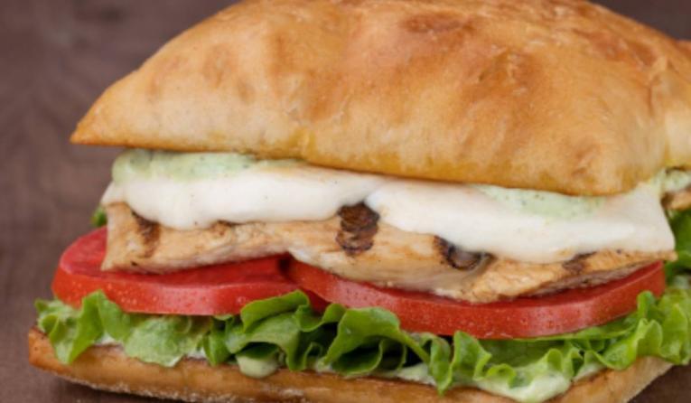 Habit Burger Grill Chicken Caprese Sandwich.