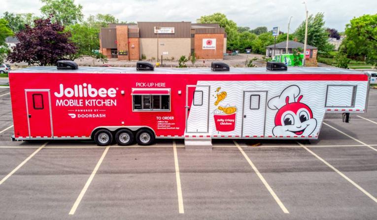 Jollibee mobile truck.