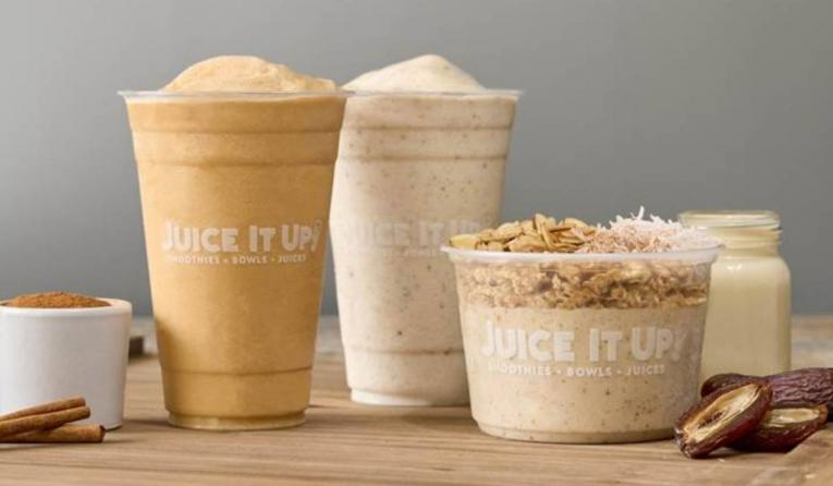Juice It Up! fall menu selections.
