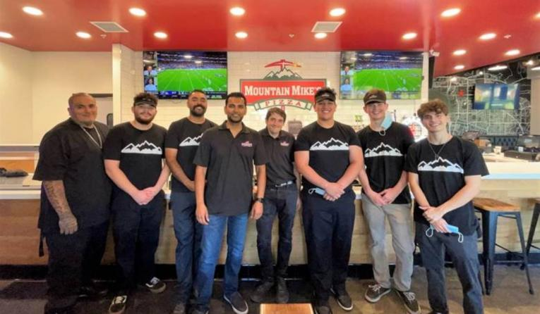 Mountain Mike's team at Brea, California store.