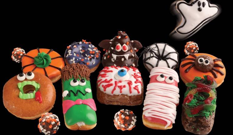 Pinkbox Halloween doughnuts.
