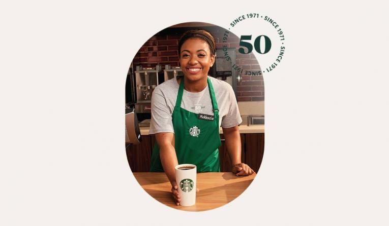 Starbucks 50th anniversary photo.