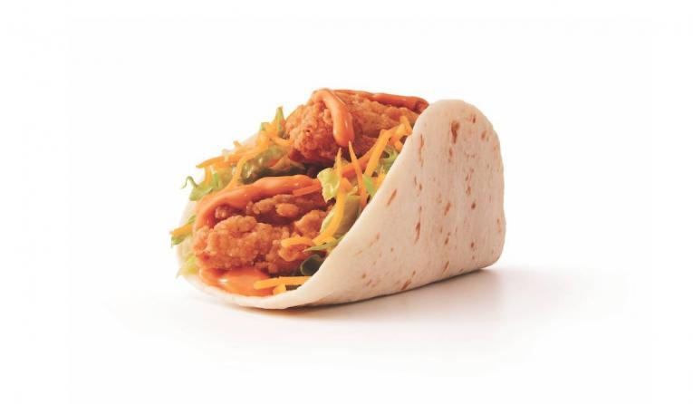 Taco John's fried chicken taco.