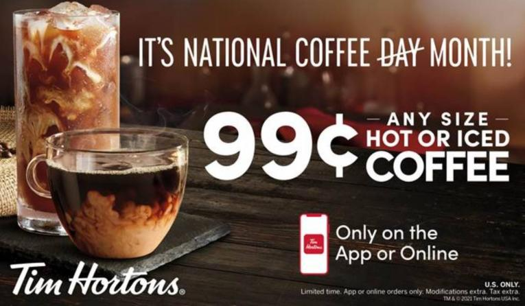 Tim Hortons National Coffee Day promotion.