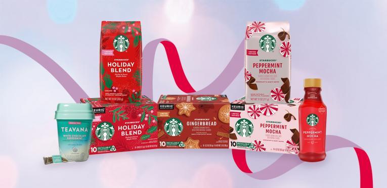 Starbucks holiday lineup.