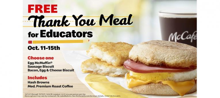 McDonald's thank you meals.