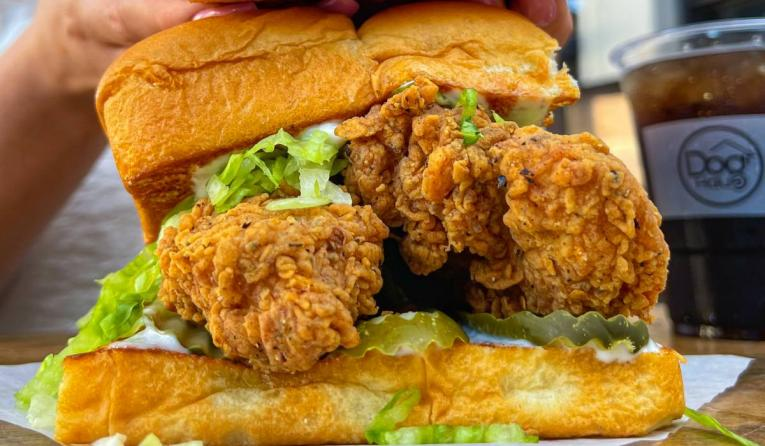 The Hot Chick sandwich.