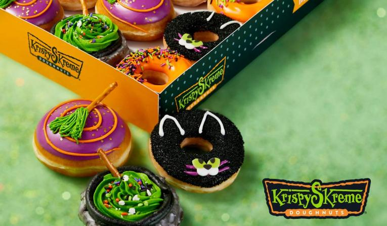 Krispy Kreme Halloween Doughnuts.