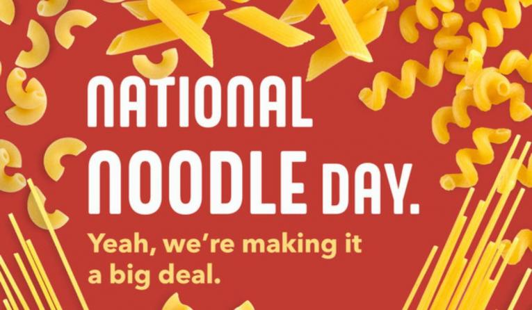 Noodles & Company, National Noodles Day.