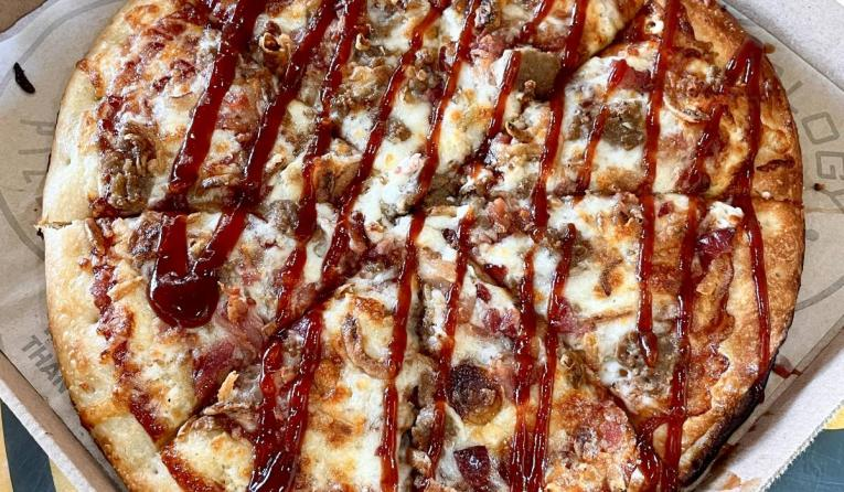 Pieology FoodBeast pizza.