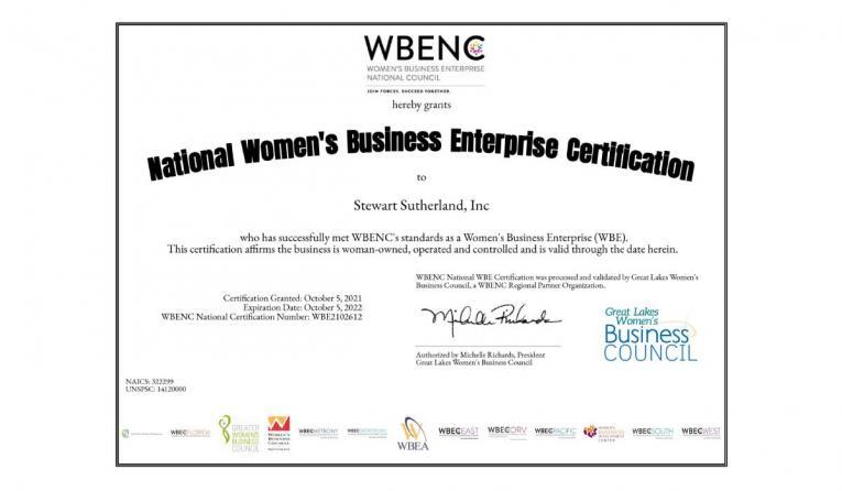 Stewart-Sutherland certification.