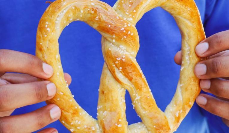 pretzel from Wetzel's pretzels.