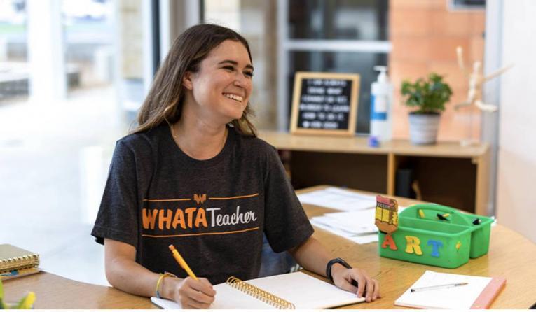 Whataburger T-shirt for teachers.
