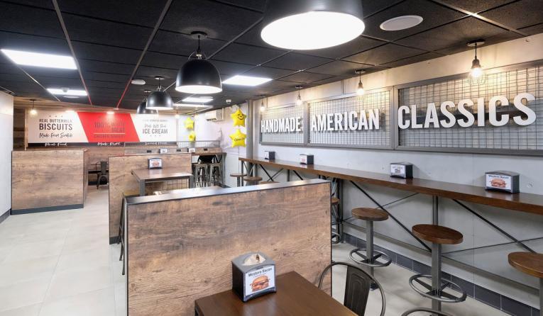 Inside Carl's Jr.'s new Manhattan restaurant.