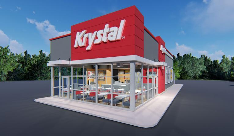 The outside of Krystal Burger.