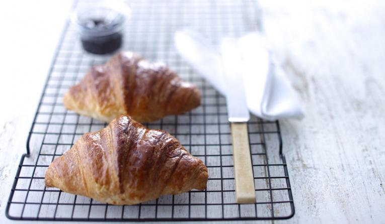 Croissant served at Paris Baguette restuarant.