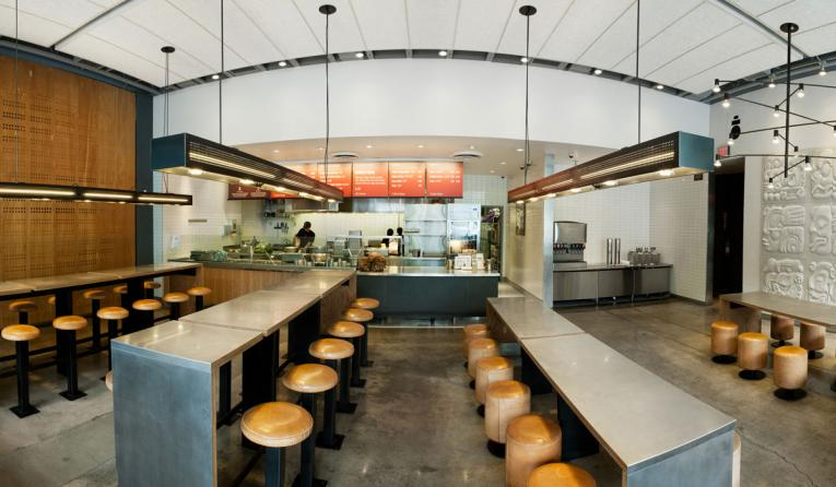 Interior of Chipotle.