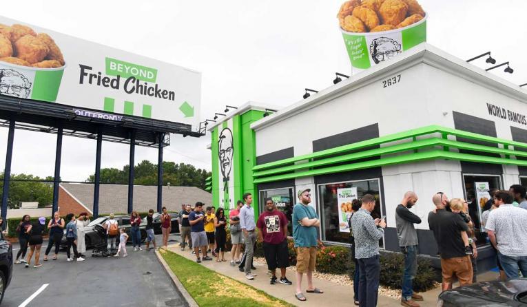 Exterior of KFC's Beyond Fried Chicken test