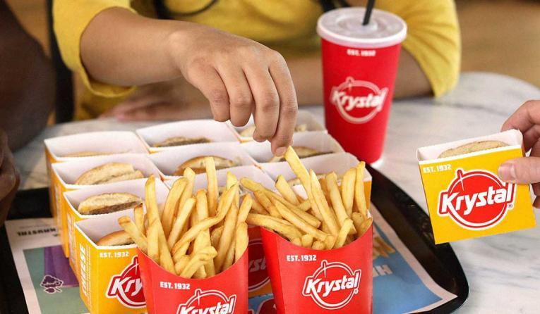 Krystal burgers and fries