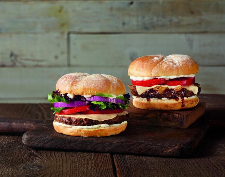 Jack in the Box's new burgers: the All American Ribeye and the Havarti & Grilled Onion Ribeye