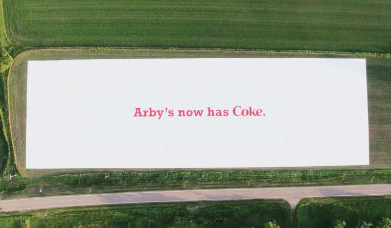 The large ad measures 212,000 square feet (nearly five acres) and has been officially recognized by GUINNESS WORLD RECORDS as the Largest advertisement.