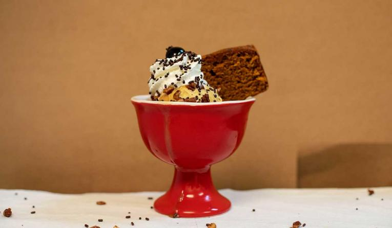 Butter & Cream's pumpkin spice sundae