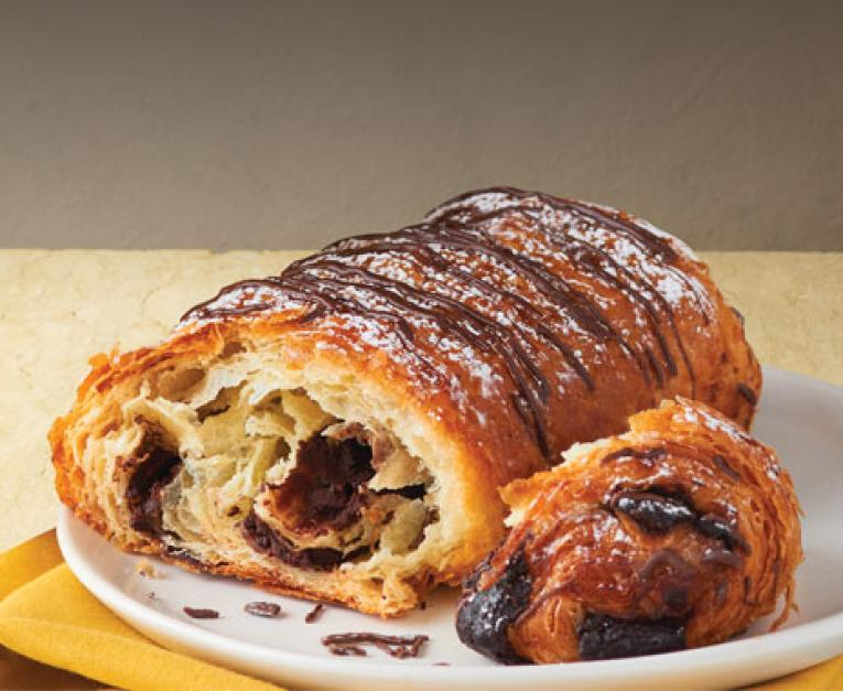A mini chocolate croissant at Au Bon Bain. The bakery cafe is giving them away on January 30.