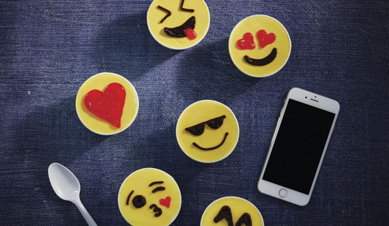 Emoji cups at Carvel.