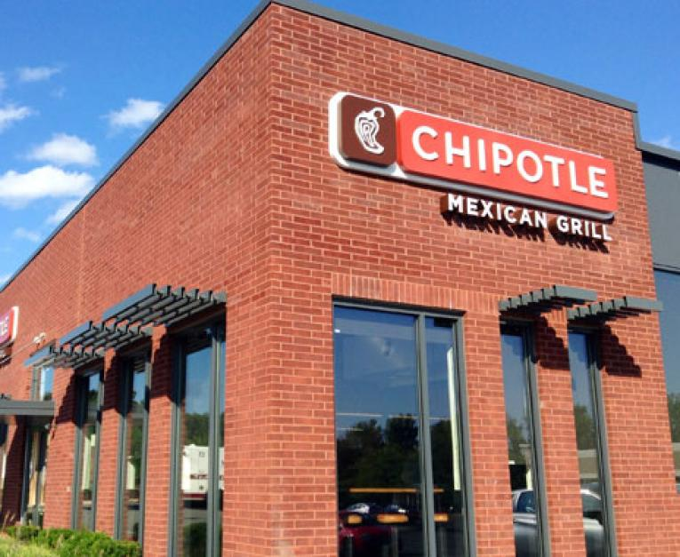 A Chipotle building showcases its iconic design. The brand is looking for a new CEO.