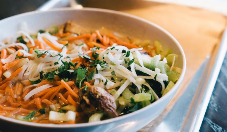A bowl of food at CoreLife Eatery.