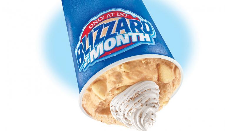 Dairy Queen's Pumpkin Pie Blizzard.