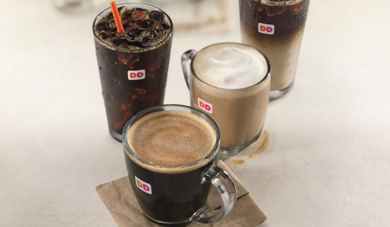 Specially Crafted Coffee and Espresso Lineup at Dunkin' Donuts.