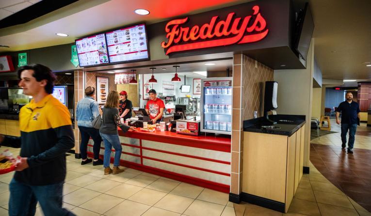 Freddy's Frozen Custard & Steakburgers' non-traditional location.